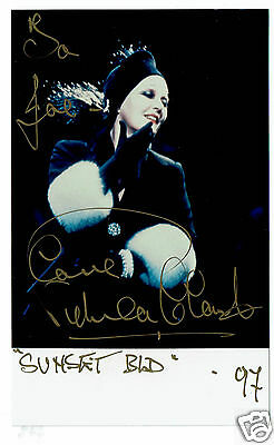 Petula Clark Actress Singer Sunset Blvd 1997 Hand Signed Colour Photograph 5x3