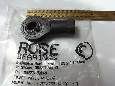 M10x1.25 Pitch Rose MFC-10 RH Female. High Quality Self Lube Rod End Bearing