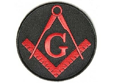 Mason Symbol Red Masonic Embroidered Patch