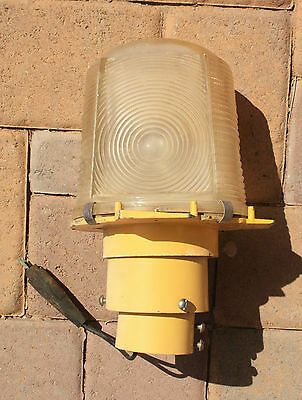 Vtg Airport Runway Light With Fixture & Plug from Luke Air Force Base Arizona