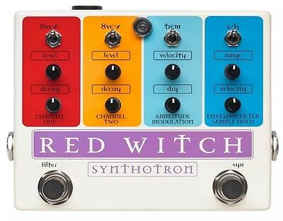 Red Witch Synthotron Synth Filter Guitar Pedal Wah Synthesizer