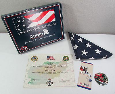 US Army Flag Operation Enduring Freedom Camp Bastion Hospital Afghanistan