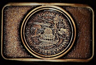 Vintage The 1986 World Exposition Canada Vancouver Belt Buckle