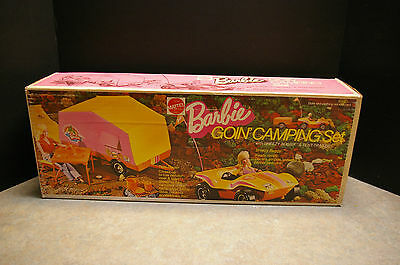 Vintage 1973 Mattel Barbie 'goin' Camping' Set With 'breezy Buggy' & Trailer
