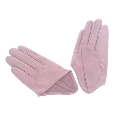 Ladies/Womens Leather Driving Gloves - Pink Light