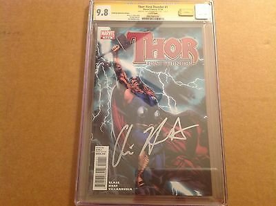 CGC SS 9.8 Thor: First Thunder #1 signed by Chris Hemsworth Avengers