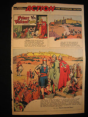 PRINCE VALIANT Sunday Page HAL FOSTER 09/05/1954 Giant Splash Page FULL SIZE!