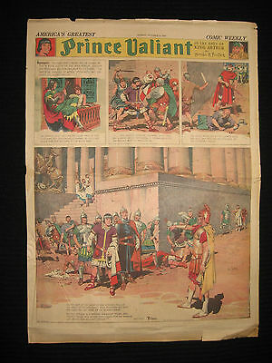 PRINCE VALIANT Sunday Page HAL FOSTER 10/6/1940 Giant Splash Page FULL SIZE!