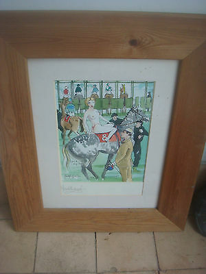 Signed Mark Huskinson Horse Racing Print - Making The Weight
