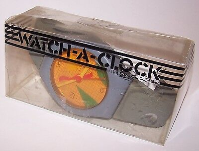 Vintage 1986 Watch-A-Clock by Street Kids w/ instructions & Clear Box - RETRO