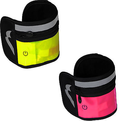 More Mile Run Brite Running Cycle Gym Velcro Wrist Pocket with Light