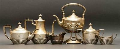 Six pieces whiting sterling silver tea service early 20th century