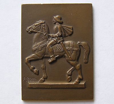 Sweden Bronze Medal (plaque) 1932 Horseman by Carell