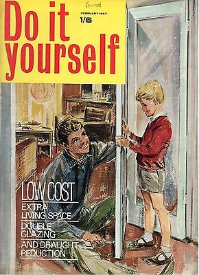 1967 FEBRUARY 37827 Do it yourself Magazine  DOUBLE GLAZING