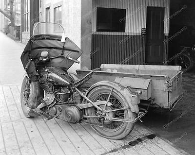 """Motorcycle Service """"Right Now"""" 1931   8"""" - 10"""" B&W Photo Reprint"""