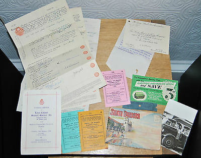 Job Lot of Assorted Paper Ephemera. Shipping, Legal, Union etc. See All Photos
