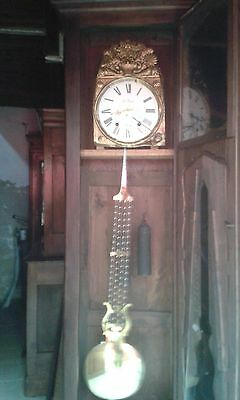 Antique French 19Thc French Comtoise Case Longcase  Clock Working/keeps Time