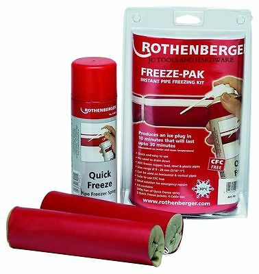 Rothenberger Plumbers Freeze Pak Instant Pipe Freezing Kit Pack With Spray 64004