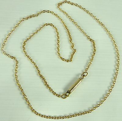Vintage 9ct yellow gold 16.5 inch neck chain 2.4 grams