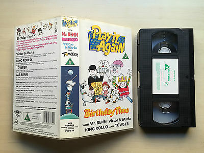 Play It Again - With Mr Benn, King Rolo, Victor & Maria And Towser - Vhs Video