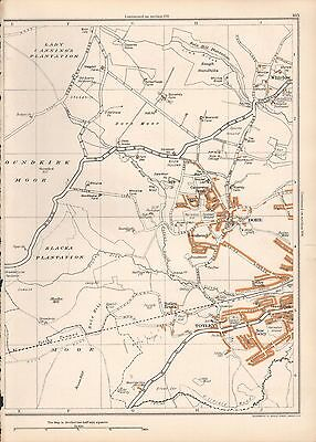 1938 Original Yorkshire Vintage Map Dore Whirlow Townhead Totley Bents