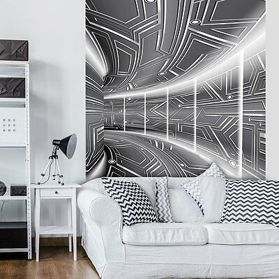 vlies fototapeten fototapete tapete modern design tunnel 3d kunst 3fx10161veexxl eur 99 90. Black Bedroom Furniture Sets. Home Design Ideas