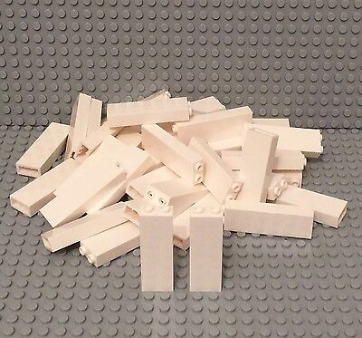 Lego New Bulk White Brick 1x2x5 Column Pillar / Wall Support Beams X25 Pieces