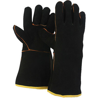 Briers Black 100% Leather Gauntlet Gardening Gloves [B0212] Size Large