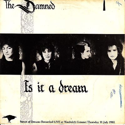 "7"" PROMO the DAMNED is it a dream / street of SPANISH PROMOTIONAL 1985 SINGLE 45"