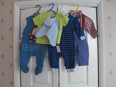 Baby Boy Clothes Bundle Age 0-3 Months Mothercare F&f Ladybird New (Lot 3)