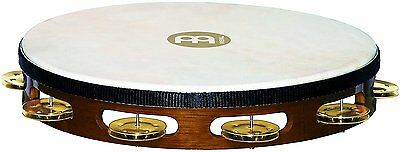 "Meinl Percussion Traditional 10"" Tambourine w/ Goat Skin Head & Brass Jingles"