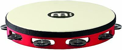 """Meinl Percussion Touring 10"""" Wood Tambourine w/ Synthetic Head & Steel Jingles"""
