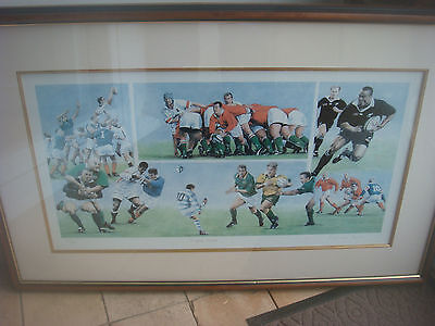 Signed Framed Limited Edition Patrick Loan 165/850 Print - Rugby Heroes