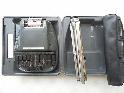 Stenograph Reporter Shorthand Machine w Hard Case and Stand  Court Reporting