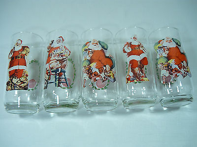 Coke Cola  Haddon Sundblom Santa Claus Glasses