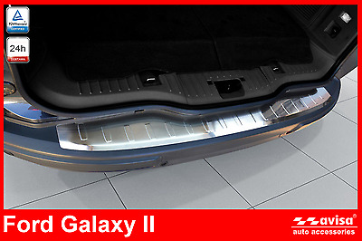 Ford Galaxy 2 Rear Bumper Protector Guard Trim Cover Chrome Stainless Steel Inox
