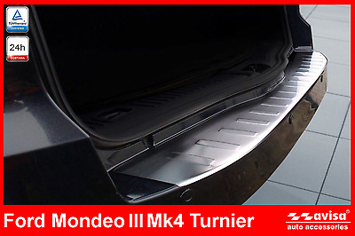 Ford Mondeo 3 Mk4 Turnier Rear Bumper Protector Guard Trim Cover Combi Stainless