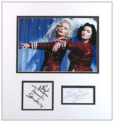 French and Saunders Autograph Signed Display  AFTAL  UACC RD