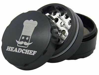 Head Chef 4 Piece 50mm Razor Grinder / High Quality / Extra Hard / Sharp Teeth