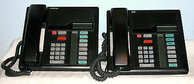 Nortel / Bell Corded Phones Black ( Charcoal ) models M7208, T7208, M7310