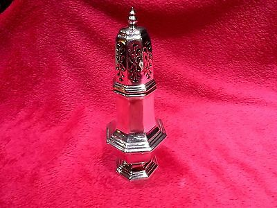 Vintage Walker & Hall Sheffield Silver Plate Plated Sucriere Sugar Shaker Caster