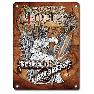 Steampunk Empire, Alchemy, Gothic, Britannica, Medium Metal Tin Sign