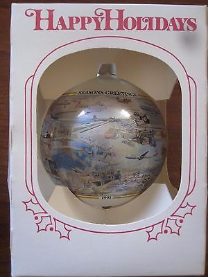 "Aviation ""History of Boeing Flight Test"" Airplane Christmas Ornament"