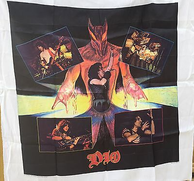 Vintage 1985 Dio  Fabric Poster Banner Flag