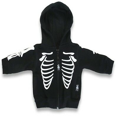 Six Bunnie Ribs Baby Boy Girl Hoodie Jumper, Punk Rock Alternative Metal Clothes