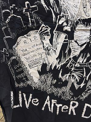 Vintage 80's Iron Maiden Live After Death Large Fabric Poster Banner Flag  Eddie
