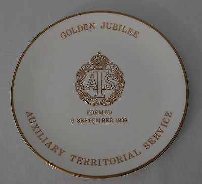 Goss ATS Golden Jubilee Plate Auxillary Territorial Service Bone China 1988