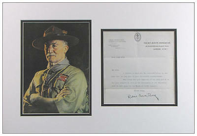 Lord Baden-Powell Autograph Typed Letter Display  AFTAL  UACC RD