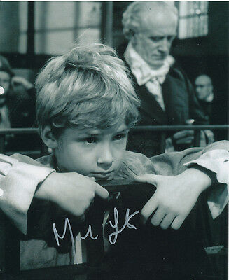 Mark Lester SIGNED photo - J696 - Oliver!