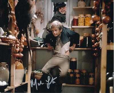 Mark Lester SIGNED photo with Oliver Reed - J677 - Oliver!
